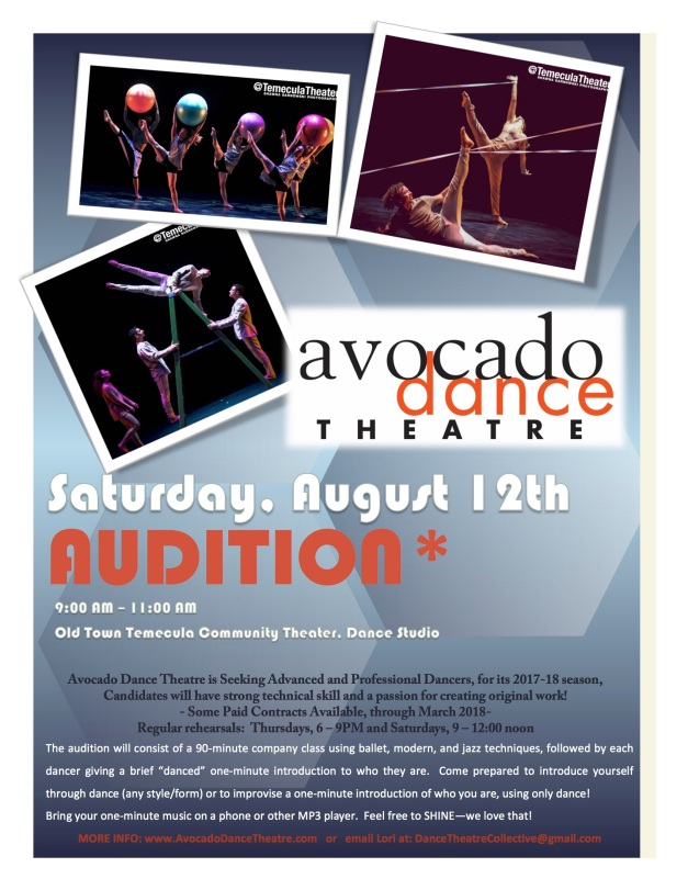 Avocado Audition August 2017