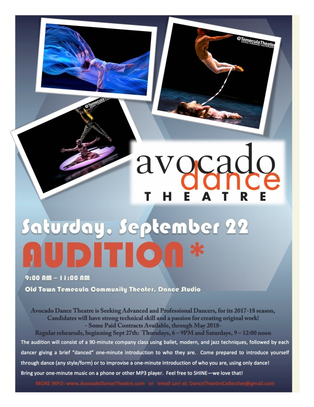Avocado Audition September 2018