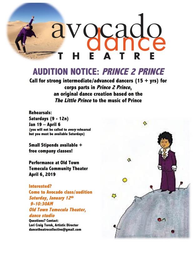 Prince2Prince audition notice 2019